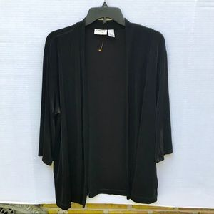 Chico's Travelers Black Cardigan Size 2 (L/XL)